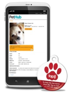 Smart tags-- Scanned with a smart phone, your dog's tag will immediately relay his location to you!