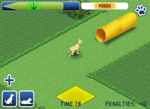 "Train your ""dog"" to go through tunnels."