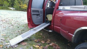 This ramp works best on the hatch door of my Prius.