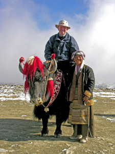 Riding a Yak, Yundrok Yumtso Lake, Tibet